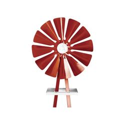 Outdoor Water Solutions Ornamental Garden Windmill - 11ft.6Inch H, Red, Model BYW0005