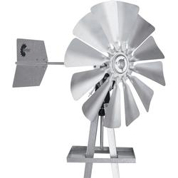 Outdoor Water Solutions Ornamental Garden Windmill - 8ft.3Inch H, Galvanized Finish, Model BYW0038