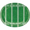Creative Converting Game Time Oval Paper Disposable Dinner PlatePaper in Green/White | Wayfair DTC331938OVAL