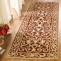 Safavieh Chelsea Oriental Hand Hooked Wool Burgundy Area Rug Wool in Red, Size 30.0 H x 20.0 W x 0.25 D in   Wayfair HK11C-2