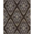 Safavieh Wyndham Oriental Handmade Tufted Wool Brown/Ivory Area Rug Wool in Brown/White, Size 0.5 D in | Wayfair WYD372B-24