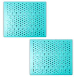 Crippa Kitchen Sink Protector Mat Set of 2 Sink Mats for Porcelain Sink Kitchen Sink Mats For Double Sink Anti-Bacterial, Mildew Resistant Sink Mats Turquoise