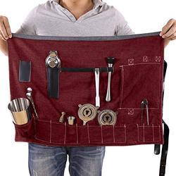 Bartender Bag, Portable Large Bar Case Bag, Home and Workplace Cocktail Making Denim Bag for Travel (Not Include Tools)