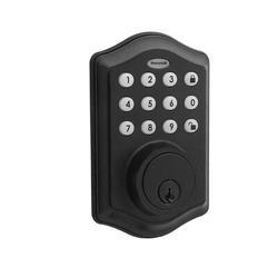 Honeywell Entry Single Cylinder Electronic Deadbolt Zinc in Black, Size 8.43 H x 4.42 W x 3.16 D in | Wayfair 8712509