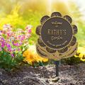 Whitehall Products Flower Personalized Garden SignMetal, Size 12.0 H x 13.5 W x 0.38 D in | Wayfair 1665OG