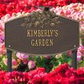 Whitehall Products Butterfly Blossom Personalized Garden Sign Metal, Size 16.0 H x 10.5 W x 3.75 D in | Wayfair 3060OG