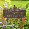 Whitehall Products Dragonfly Quote Personalized Garden Sign Metal, Size 16.63 H x 10.0 W x 4.5 D in | Wayfair 1705OG