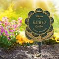 Whitehall Products Flower Personalized Garden SignMetal, Size 12.0 H x 13.5 W x 0.38 D in | Wayfair 1665GG