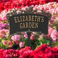 Whitehall Products Song Bird Personalized Garden Sign Metal, Size 14.0 H x 9.0 W x 0.33 D in | Wayfair 2529BG