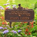 Whitehall Products Dragonfly Quote Personalized Garden Sign Metal, Size 16.63 H x 10.0 W x 4.5 D in | Wayfair 1705AC