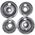 "Set of 4pc 6"" & 8"" Drip Pans Bowl Exact Replacement for Stove Range Burner Frigidaire Kenmore Whirlpool"