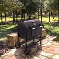 "Oklahoma Joe's 60"" Barrel Charcoal GrillCast Iron/Steel in Black/Gray, Size 47.5 H x 59.9 W x 26.5 D in | Wayfair 19302087"