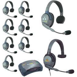 Eartec HUB9SMXS UltraLITE 9-Person HUB Intercom System with Max 4G Single Headset HUB9SMXS
