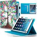Dteck 9.5-10.5 Inch Universal Case, Flip Stand Leather Cover for Galaxy Tab 9.6 9.7 10.1 10.4 10.5 /iPad Pro 9.7 /Dragon Touch 10 10.1 /Lenovo Tab 10.1 10.3 /Android Tablet 10 10.1 Inch, Tree