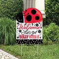 Big Dot of Happiness Happy Little Ladybug - Party Decorations - Baby Shower or Birthday Party Welcome Yard Sign