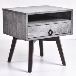 George Oliver Kester 1 Drawer NightstandWood in Gray, Size 20.07 H x 19.76 W x 15.74 D in | Wayfair 9A0F7BFCB8694CE2A2D30135C82B657E