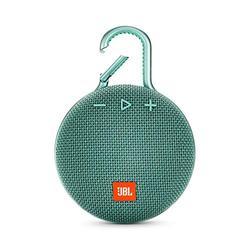JBL CLIP 3 - Waterproof Portable Bluetooth Speaker - Teal, 6.5 x 4.3 x 2.2 (JBLCLIP3TEALAM)