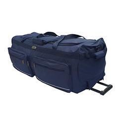 Grand Sac de Voyage ou Sport, à Roulettes. Tailles L-100 L, XL-115 L, XXL-150 L, XXXL-200 L. Noir et bleu Bleu bleu 100L