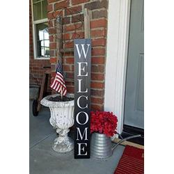 CELYCASY Welcome Wood Sign, Vertical Welcome Sign, Rustic Welcome Sign, Welcome Porch Sign, Narrow Welcome Sign, Front Door Welcome Sign, Porch Sign