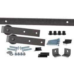 Flat Track by Leatherneck Hardware 402 Straight Premium Single Track Barn Door Hardware Kit, Size 2.0 H x 96.0 W x 2.44 D in   Wayfair