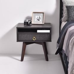 George Oliver Kester 1 Drawer NightstandWood in Gray, Size 20.07 H x 19.76 W x 15.74 D in   Wayfair C8C49E8E7CA949F1A762E64F2A6A5E3D