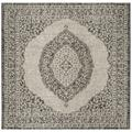 """""""Courtyard Collection 6'-7"""""""" X 6'-7"""""""" Square Rug in Light Grey And Black - Safavieh CY8751-37612-7SQ"""""""