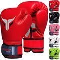 Mytra Fusion Boxing Gloves for Men, Women & Junior Training, Punching Bag, Sparring, Kickboxing, Fighting, Muay Thai, Bag Gloves (Red, 6-OZ)