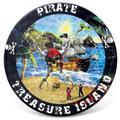 Bay Isle Home™ Pirate Island Coaster Ceramic in Black/Blue, Size 0.25 H x 3.75 D in   Wayfair 7DD37B8D0B794E339DE114751A34E6E2