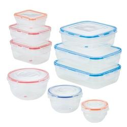 Lock & Lock Color Mates Assorted 18 Container Food Storage Container SetPlastic, Size 7.9 H x 6.7 W x 12.8 D in | Wayfair HPL301A9