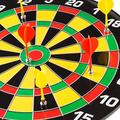 Hey! Play! Magnetic Dart Board Set with 16 inch Board, 6 Colorful Darts and Built in Hanging Hook - Safe Dartboard with Darts for Kids and Adults