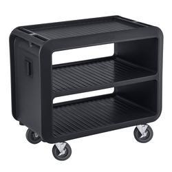 "Cambro SC337S110 41 1/2"" Beverage Service Cart, 23 4/5""D x 37 1/10"" H, Black"