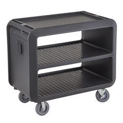 "Cambro SC337615 41 1/2"" Beverage Service Cart, 23 4/5""D x 37 1/10"" H, Charcoal Gray"
