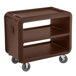 "Cambro SC337131 41 1/2"" Beverage Service Cart, 23 4/5""D x 37 1/10"" H, Dark Brown"