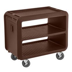 "Cambro SC337S131 41 1/2"" Beverage Service Cart, 23 4/5""D x 37 1/10"" H, Dark Brown"