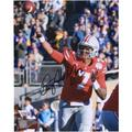 """Dwayne Haskins Ohio State Buckeyes Autographed 8"""" x 10"""" Throwing Photograph"""