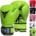 Mytra Fusion Boxing Gloves for Men, Women & Junior Training, Punching Bag, Sparring, Kickboxing, Fighting, Muay Thai, Bag Gloves (Green, 6-OZ)