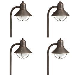 "Kichler 15239-4 Seaside 26"" Tall Path Lantern - Set of (4) Olde Bronze"