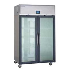 """Delfield GAR2NP-GH 48"""" Two Section Reach In Refrigerator, (4) Left/Right Hinge Glass Doors, 115v"""