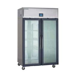 """Delfield GAR2P-G 55 2/9"""" Two Section Reach In Refrigerator, (2) Left/Right Hinge Glass Doors, 115v"""