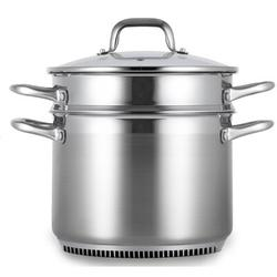 Turbo Pot 8.1-qt. Stainless Steel Stock Pot w/ LidStainless Steel in Gray, Size 9.5 H x 12.0 W in   Wayfair RS6001