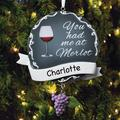 Red Barrel Studio® You Had Me at Merlot Holiday Shaped Ornament Plastic in Gray, Size 4.5 H x 3.75 W x 0.5 D in | Wayfair