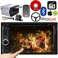 Double Din 6.2'' Touch Screen Bluetooth DVD CD MP3 AM FM Player Steering Wheel Control Mirror Link For GPS Navigation Radio Wireless Remote Control+Free Camera for 2007-2008/2012-2015 Buick Enclave