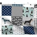 Spoonflower Fabric - Doberman Pinscher Pet Quilt Cheater Dog Breed Nursery Collection Dogs Printed on Minky Fabric by The Yard - Sewing Baby Blankets Quilt Backing Plush Toys