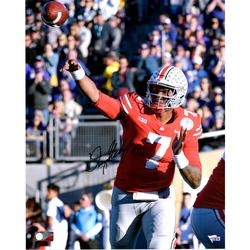 """Dwayne Haskins Ohio State Buckeyes Autographed 16"""" x 20"""" Throwing Photograph"""