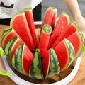 Extra Large Watermelon Slicer Cutter Comfort Silicone Handle,Home Stainless Steel Round Fruit Vegetable Slicer Cutter Peeler Corer Server for Cantaloup Melon,Pineapple,Honeydew,Get 12,As Seen On TV