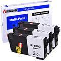 INK4WORK Remanufactured Black Ink Cartridge Replacement for Epson 802 T802120 T802 for Workforce Pro EC-4020 EC-4030 WF-4720 WF-4730 WF-4734 WF-4740 Printer (Bk, 3-Pack)