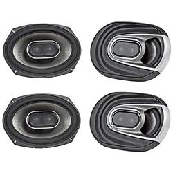 Polk Audio MM1 Series 6x9 Inch 450W Coaxial Marine Boat Audio Speakers (2 Pack)
