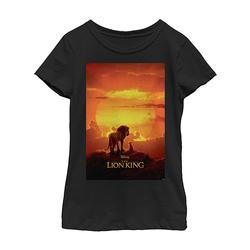 Fifth Sun Girls' Tee Shirts BLACK - The Lion King Black Pride Rock Poster Fitted Tee - Girls