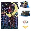 """Smart Case for 8"""" Amazon Fire HD 8 Kindle 2018/2017/2016/2015 Case 8th/7th/6th/5th Gen, Uliking PU Leather Stand Wallet Magnetic Folio Cover with Auto Wake/Sleep Card Pencil Holder, Star Girl Night"""