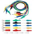 Banana Plug Test Lead Kit 4mm Colorful Silicone Banana to Banana Plug Test Lead Kit for Multimeter Crocodile Clip & U-type Probe(P1036B)